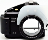Aquabox for shooting underwater on Sony NEX 5 (16 mm)