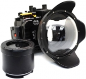 underwater shooting Panasonic Lumix GH5 with a fisheye port