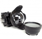 Underwater box for Sony A6xxx with a spherical dome
